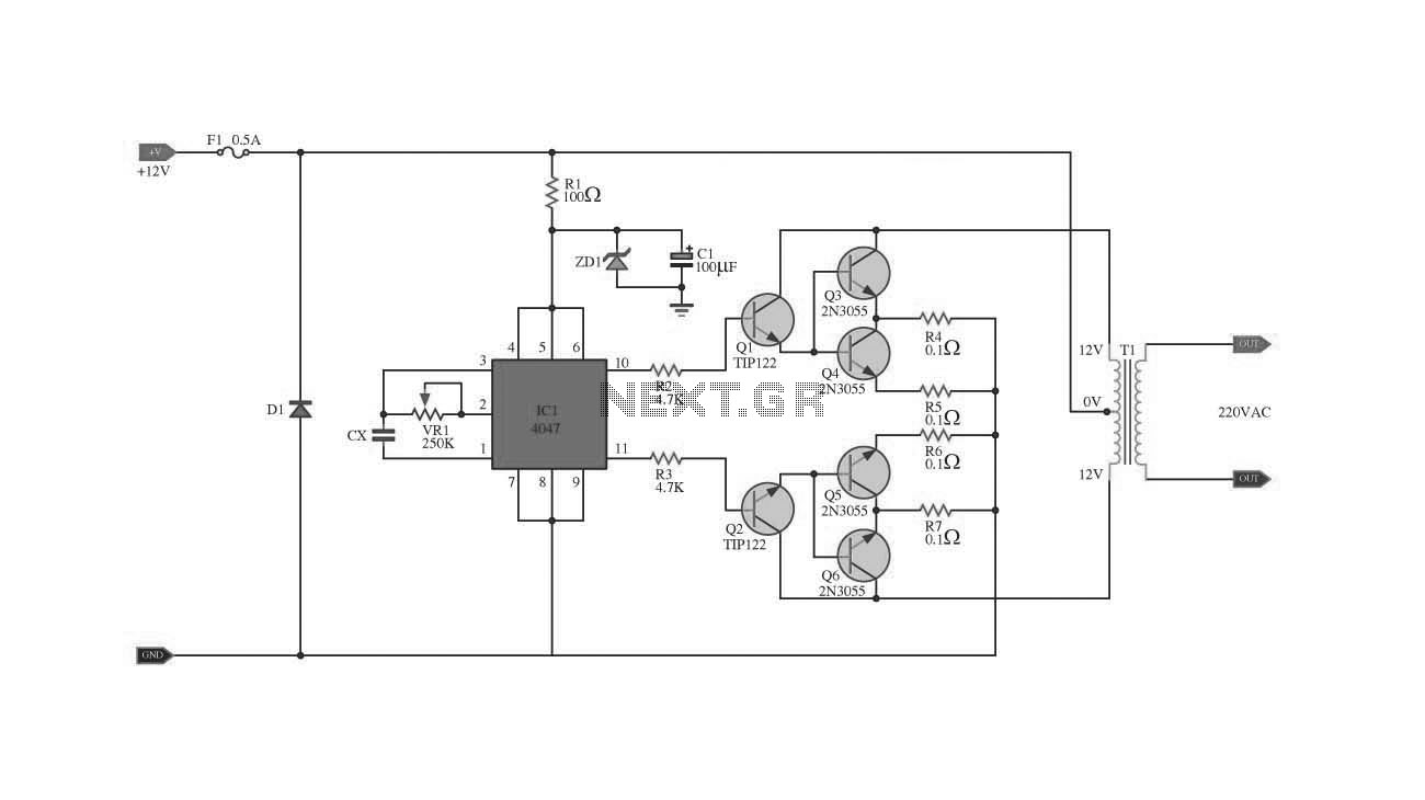 Inverter Circuit Page 2 Power Supply Circuits Top 1028 Nextgr Ic 4047 2n3055 With Pcb 100w
