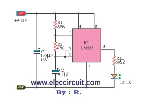 Infrared Remote control transmitters - schematic