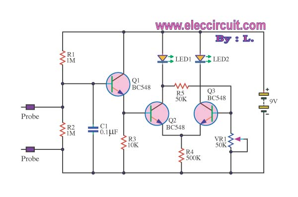 lie detector circuit diagram  nest wiring diagram, circuit diagram