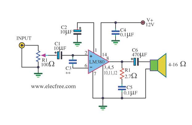 audio amplifier circuit page   audio circuits  next.gr, schematic