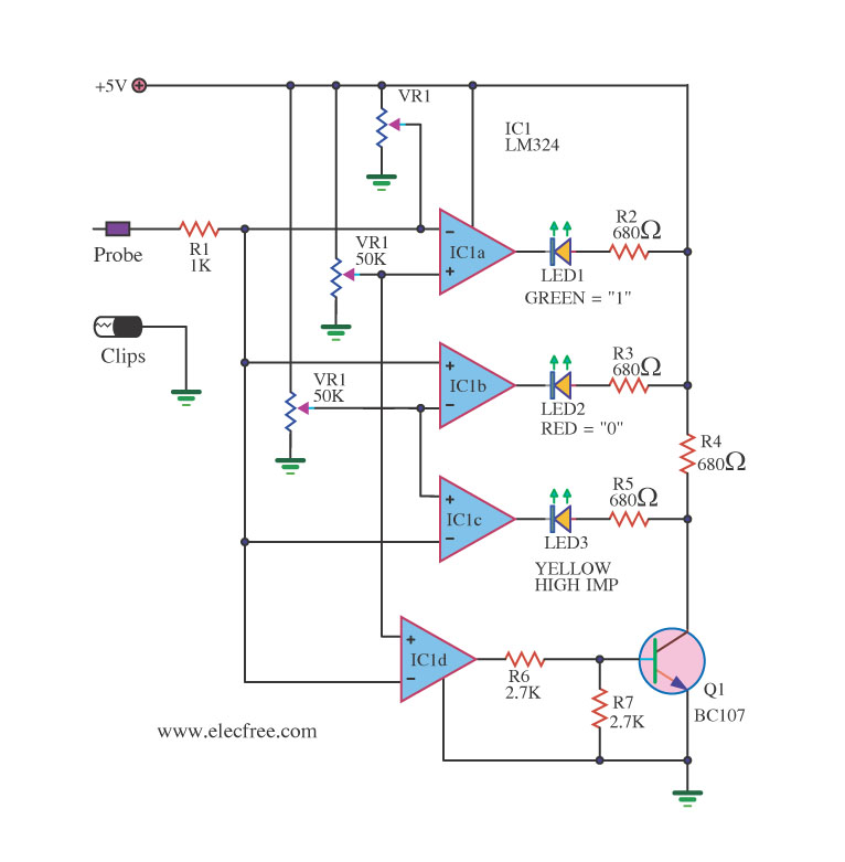 logic circuit page 5 digital circuits next grmany logic probe circuit ideas