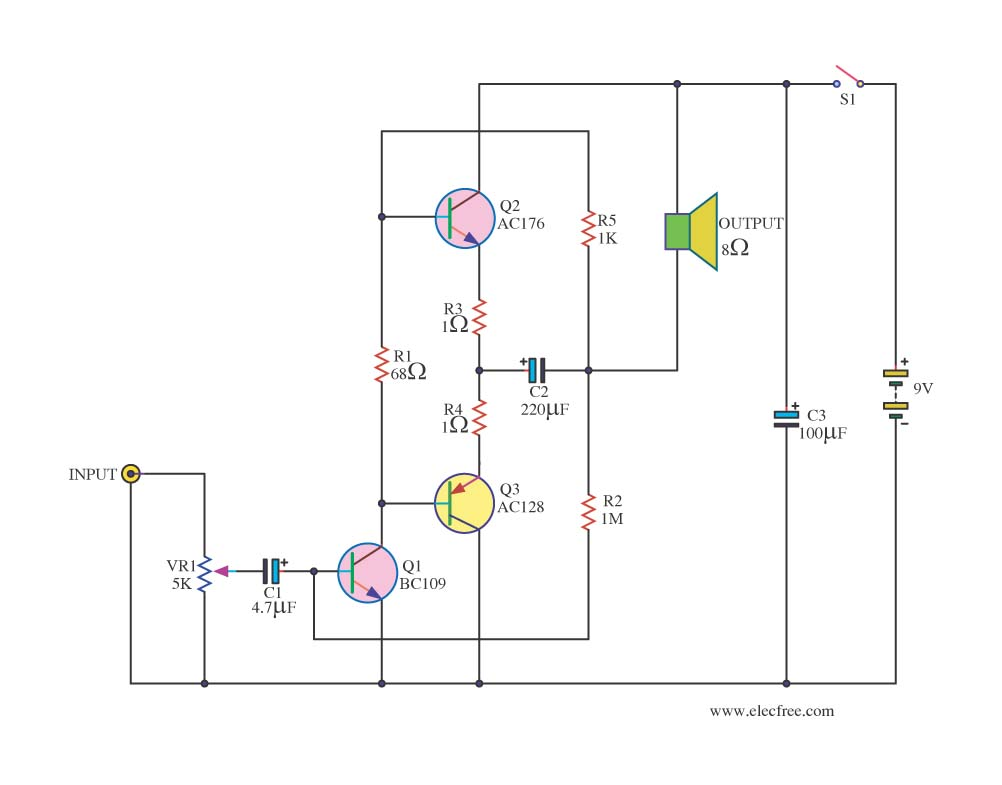 Results Page 108 About Transistor Mplifier Searching Circuits At Circuit Diagram Small Amplifier Ideals