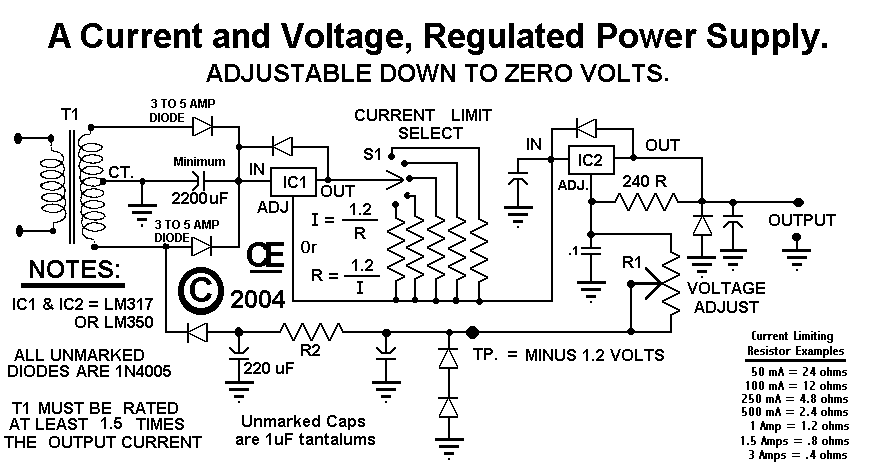 power supply 1 circuits \u003e power supply current and voltage regulated by lm317 or  at webbmarketing.co