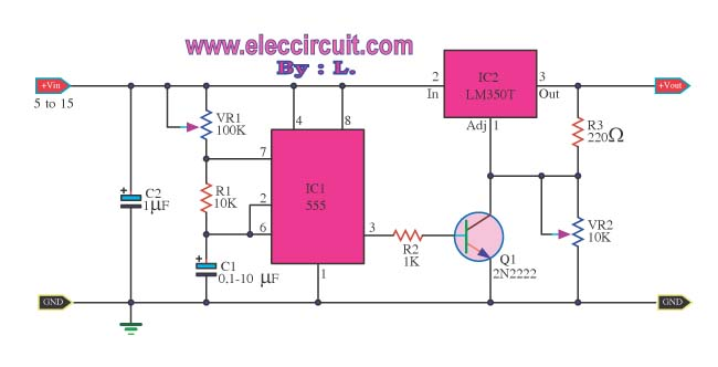 simple pulse generator by ic 555 timer