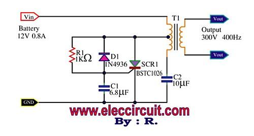 SCR Mini Power Inverter - schematic