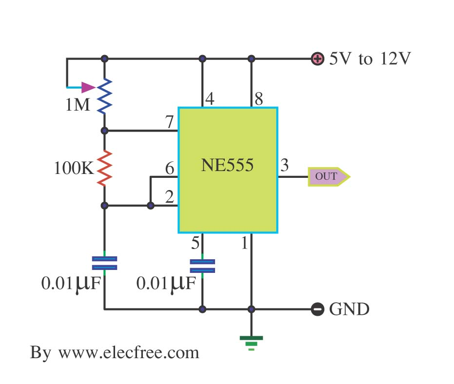 555 Astable Circuit Diagram