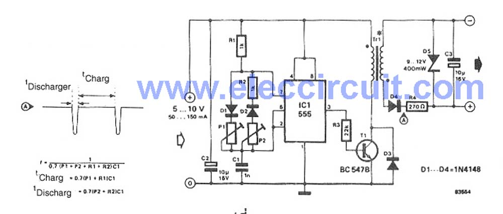 ac to dc converter wiring diagram electronic schematics collectionselectronic circuits page 297 next grsimple dc converter for digital circuit by ic 555