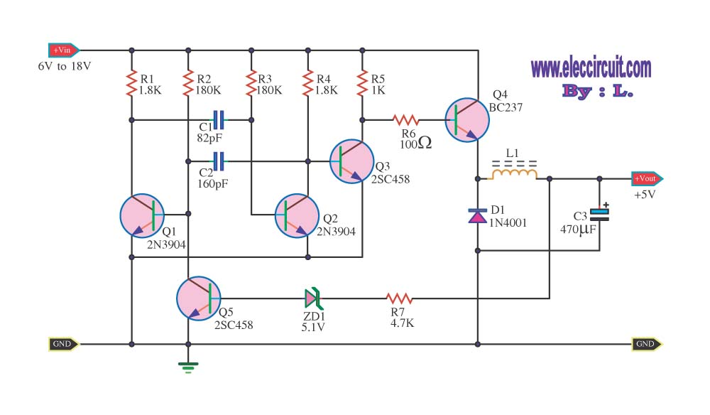Step Down Voltage Converter Circuits on star delta motor wiring diagram