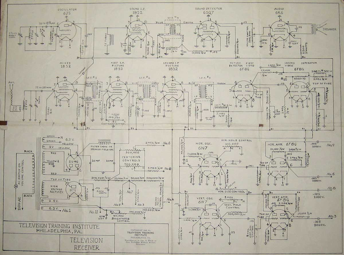 Receiver Circuit Page 6 Rf Circuits Wireless Wiring Diagram Meyer Television Training Institute 1943