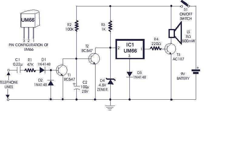 Telephone Ring Modulator - schematic