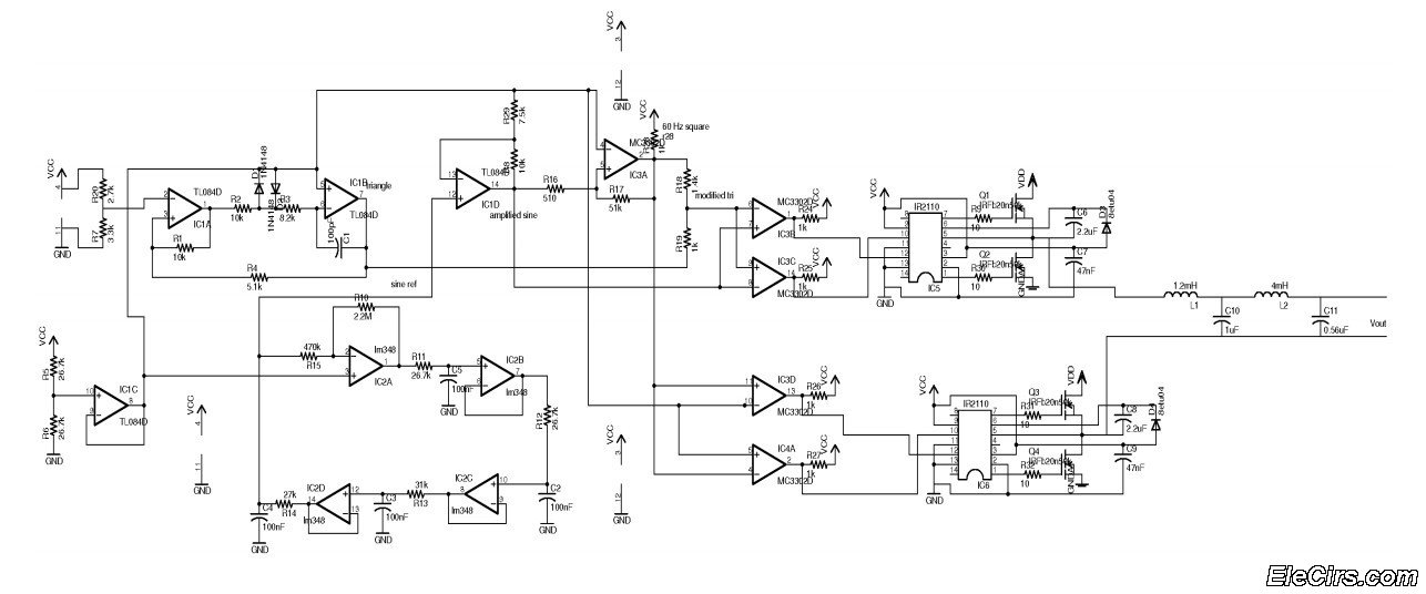 Circuit diagram of square wave inverter sine wave inverter circuit diagram ireleast readingratnet asfbconference2016 Image collections
