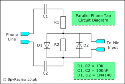 1 Circuit and Wiring Diagram * 2 Parallel Phone TapCircuit * 3 Mobile/Cell - schematic