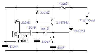 Sound Triggered Flash Schematic - schematic