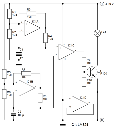 12V smooth Flashing circuit