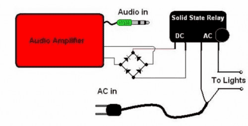 Audio Controlled Christmas Lights - schematic