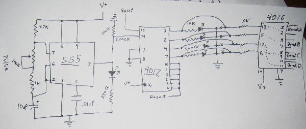 Sequencer type switch opener closer circuit - schematic
