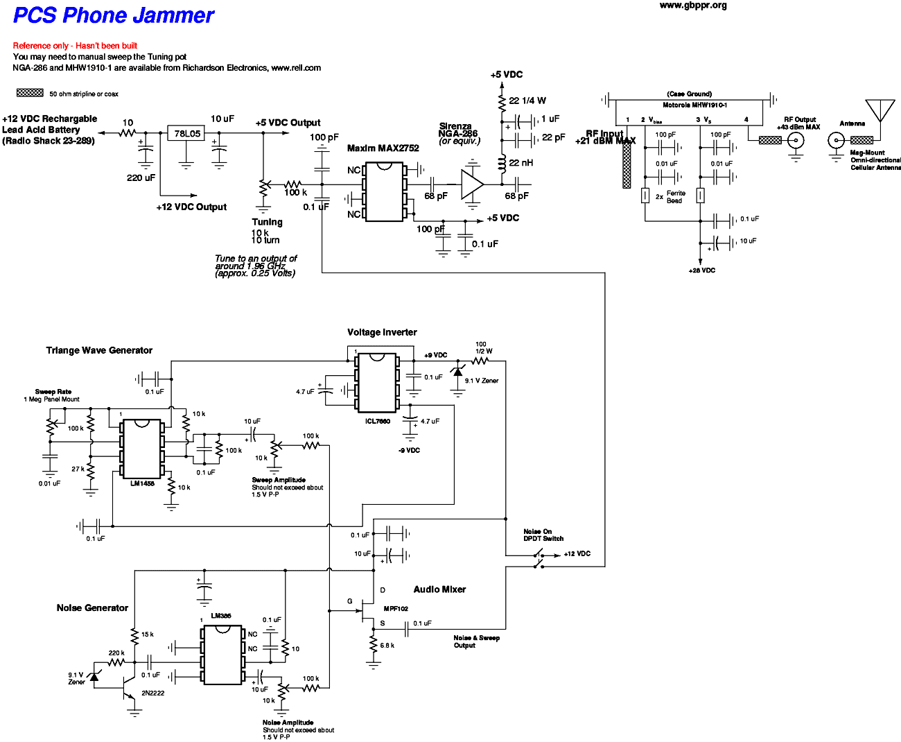 Jammer Circuit Rf Circuits Electronic Design Software For Mobile Phone