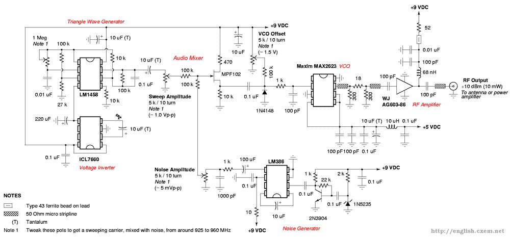 jammer circuit : RF Circuits :: Next.gr on