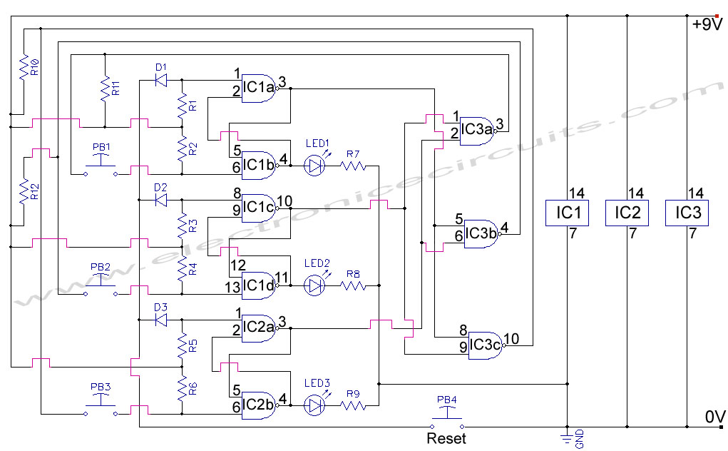 First Response Input Monitor Game Circuit - schematic