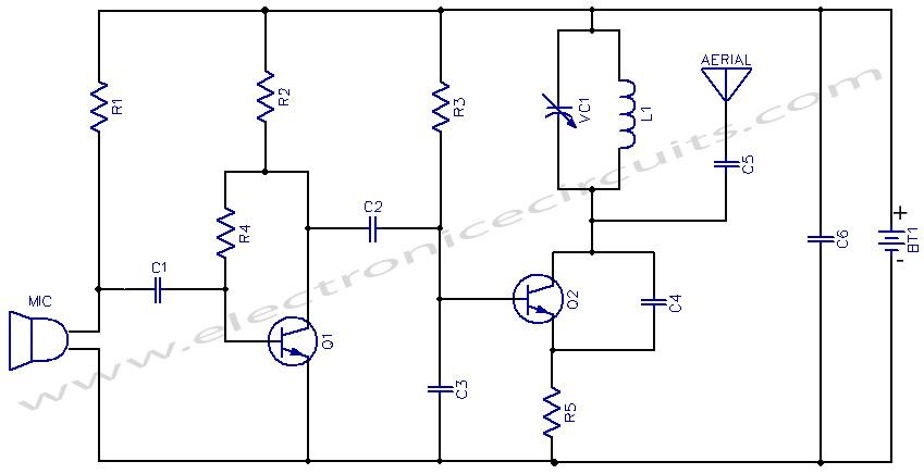 3V FM Transmitter - schematic