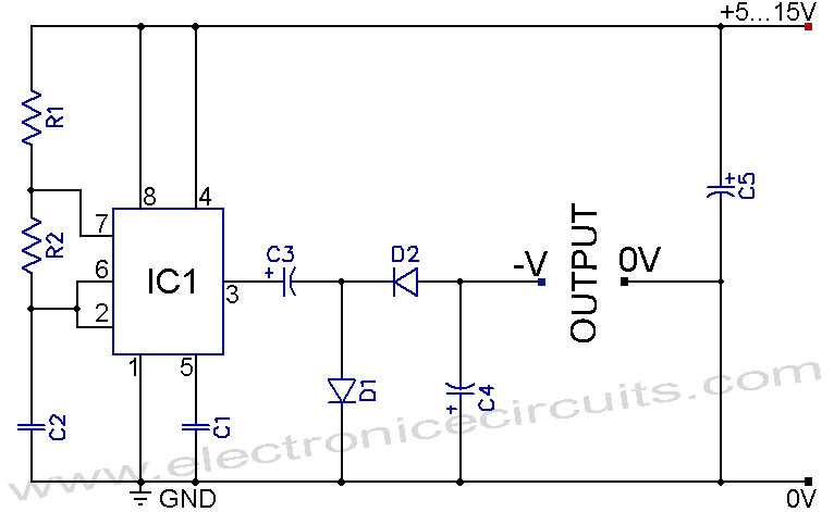 555 negative voltage power supply circuit   repository