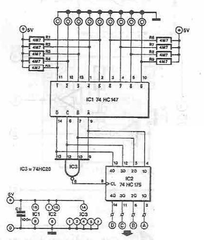 Sensor switch circuit 9 channels - schematic