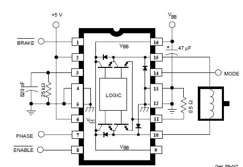 DC servo motor circuit design using A3952S motor driver - schematic