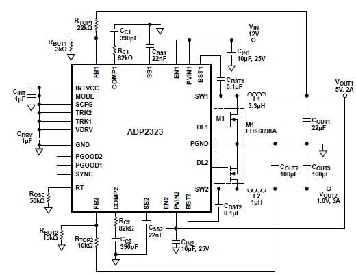 adp2323 high current dc dc converter circuit design electronic project under repository