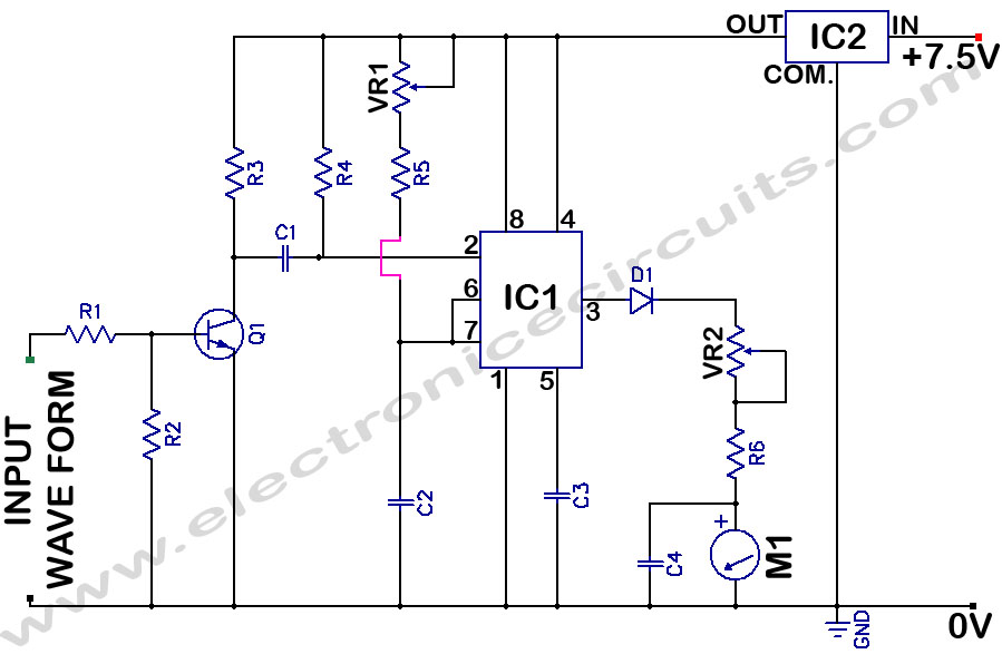 Frequency Counter Circuit : Frequency meter circuit page counter circuits