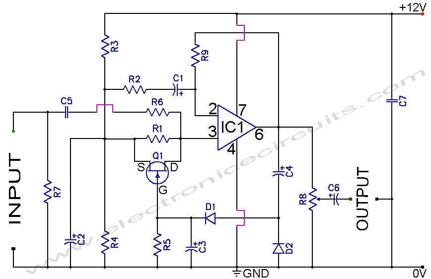741 Stereo Preamplifier Circuit Diagram This Preamp Circuit Provides