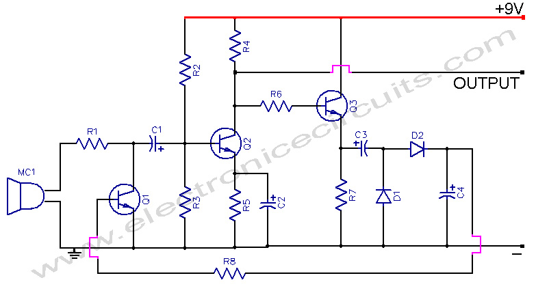 Automatic Gain Control Microphone PreAmp - schematic