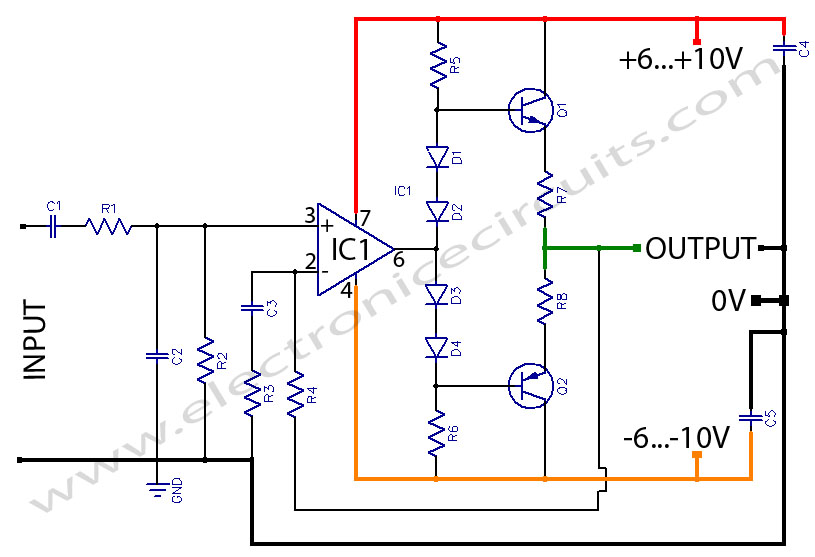 HeadPhone Amplifier OR PreAmplifier OutPut Stage circuit using LF3561 7 [ links to fender schematics ampage forum ] wiring diagram  at reclaimingppi.co
