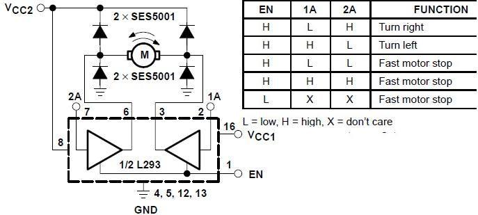 Circuits Bidirectional Motor Control Using L293 Driver