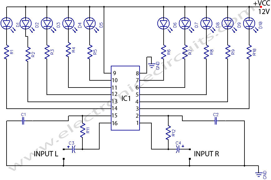 audio stereo circuit page 6 audio circuits next gr rh next gr Audio Volume Indicators Audio Level Indicator