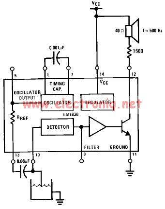 LM1830 low level detector schematic circuit design