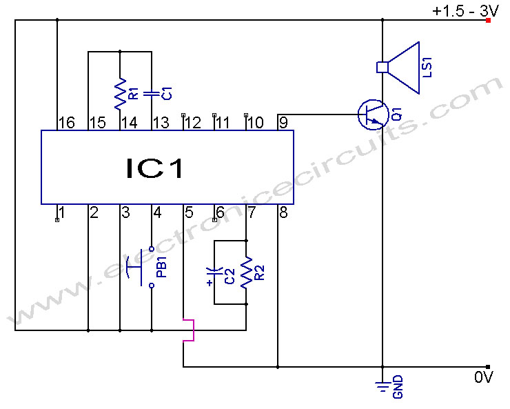 Musical Doorbell Circuit Diagram doorbell circuit page 2 other circuits next gr Doorbell Wiring-Diagram Two Chimes at mifinder.co