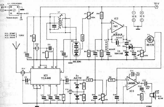 Gt Circuits Gt Fm Cb Radio Receiver Circuit Design Using