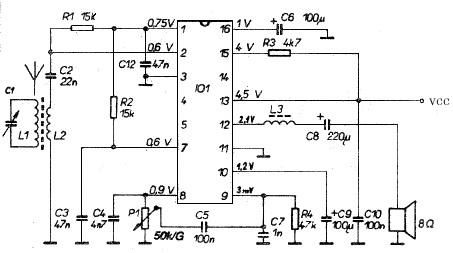 TDA1083 Am radio receiver circuit diagram electronic project - schematic