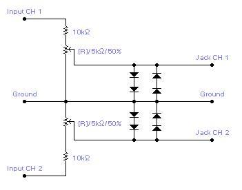 Interface Circuit for PC Soundcard Oscilloscope - schematic