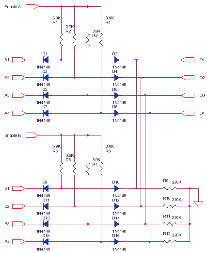 High speed data switch circuit