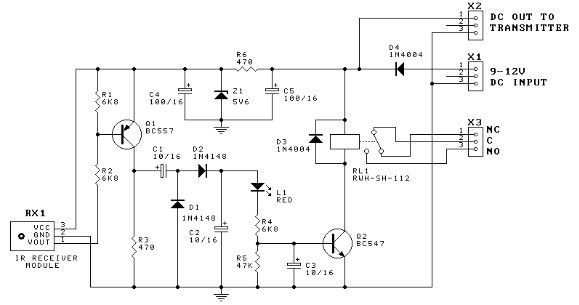 555 timer Door minder electronic project circuit diagram - schematic