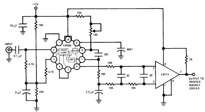 lm565 fsk demodulator circuit design electronic project under repository-circuits