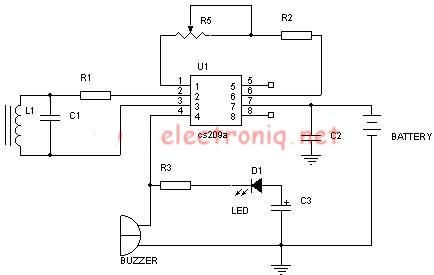 simple metal detector circuit diagram and schematic using a single rh 16 sfgliuy kizilaymadensuyu de