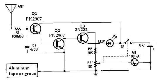 Ion detector circuit diagram electronic project