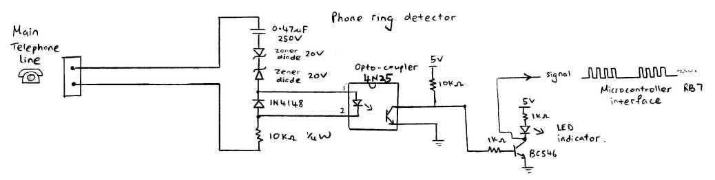 DTMF Decoder Using MT8870 - schematic