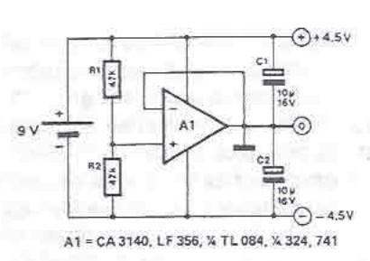 Symmetrical power supply circuit electronic project