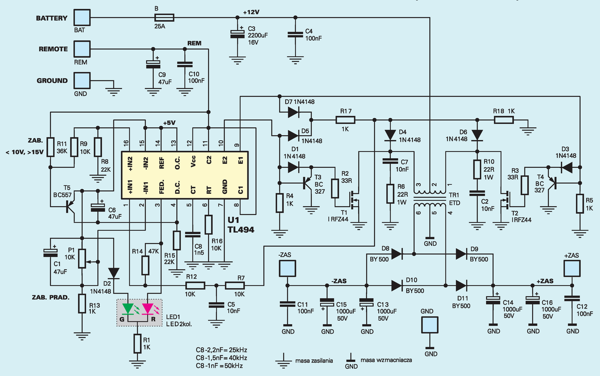 Index4 on 5 volt power supply circuit diagram
