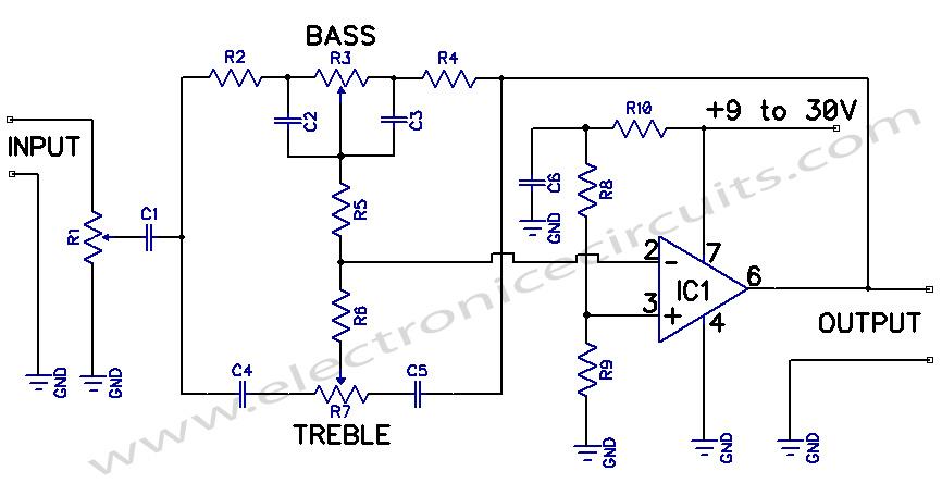 Tone Control - schematic