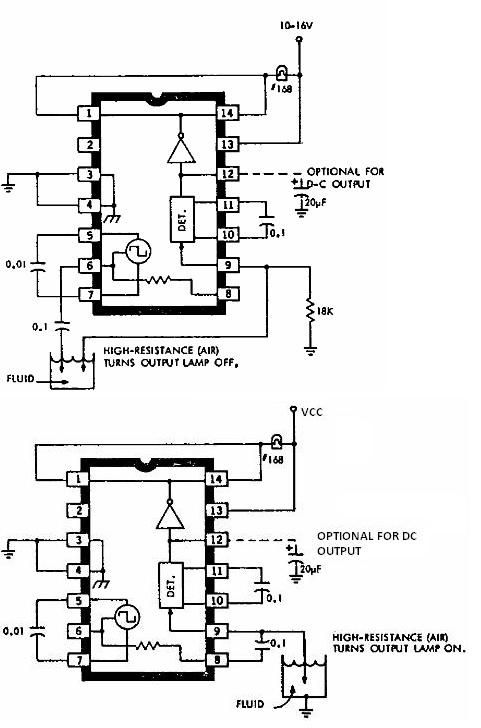 ULN2429 liquid detector circuit diagram electronic project - schematic