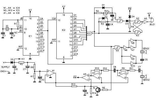 ultrasonic parking sonar circuit car parking circuit automotive circuits next gr 5R55E Transmission Wiring Diagram at alyssarenee.co
